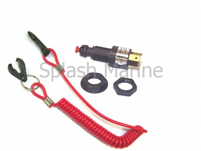 Outboard Engine / Motor Emergency Cut-Off Switch - Waterproof & includes Lanyard