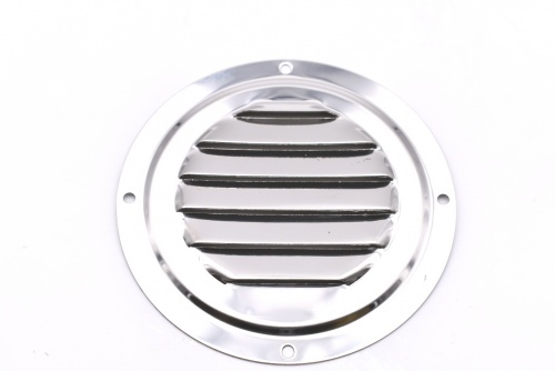 Round lowred vent polished SS Ø 102 mm