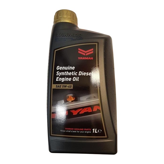 Genuine Yanmar Marine Premium Synthetic Diesel Engine Oil 5W40 - 1 Litre