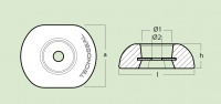DISC ANODE 100mm, MAGNESIUM
