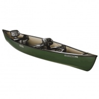 Old Town Saranac 160 Canadian Canoe, Green - Ex Demo, with Wooden Paddles